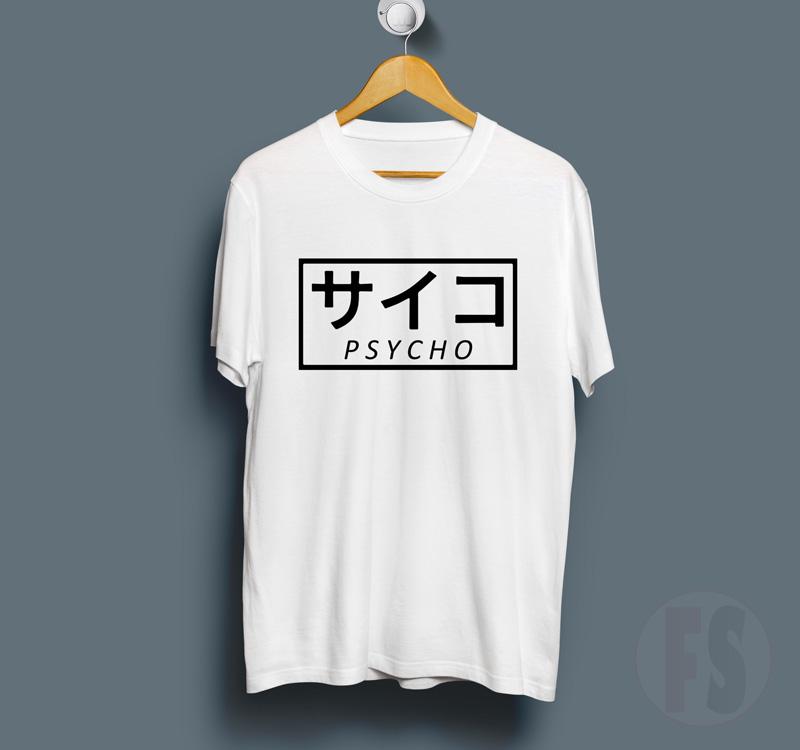 Psycho Kanji Harajuku T Shirt  5969470df
