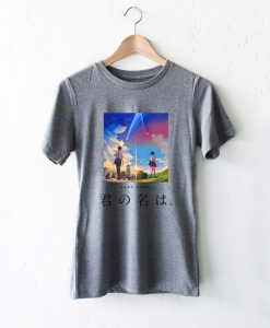 Harajuku Your Name Kimi No Na Wa Black White Gray Tshirt Fansshirt