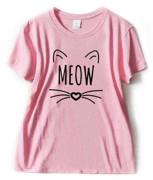 Meow Kawaii T-Shirt For Woman - Harajuku Tshirt - Fansshirt.com
